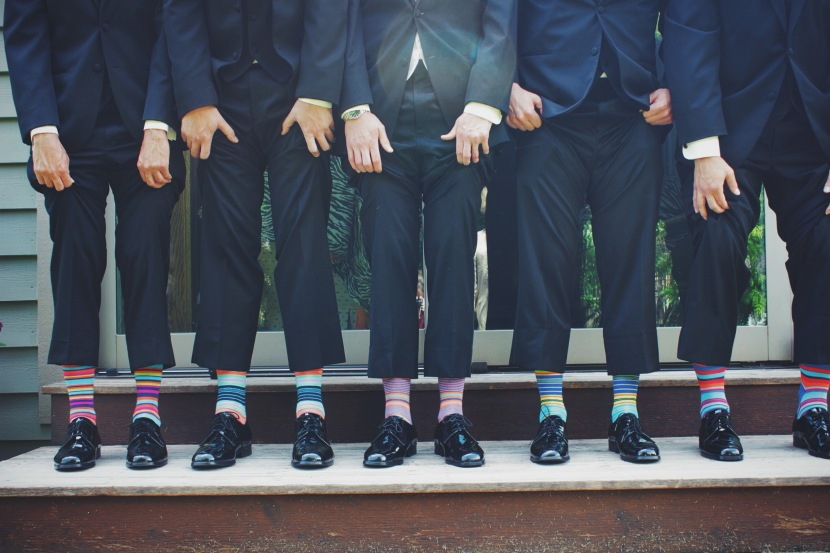 men with matching socks